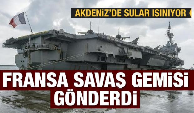 Akdeniz'de sular ısınıyor! Fransa savaş gemisi gönderdi  23 Şubat 2020 Günün Önemli Gelişmeleri