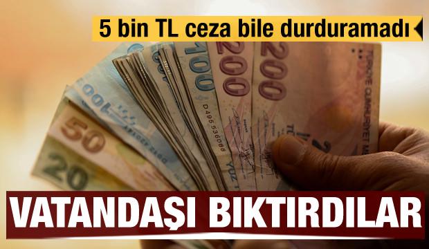 5 bin TL ceza bile durduramadı! SMS'ler vatandaşı bıktırdı