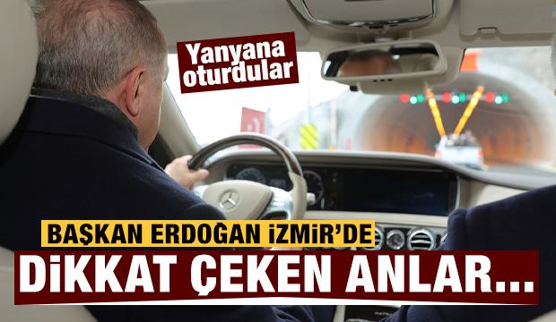 Başkan Erdoğan İzmir'de! Dikkat çeken anlar...