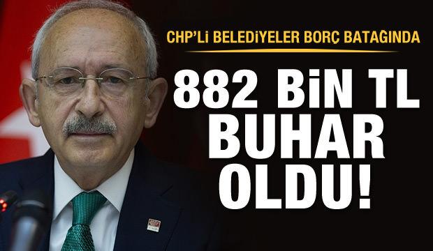 CHP'li belediyeler borç batağında!