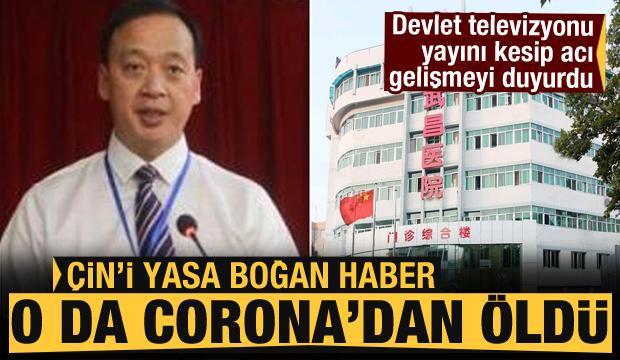 Devlet televizyonu yayını kesip acı haberi duyurdu! Çin yıkıldı: O da koronavirüsten öldü