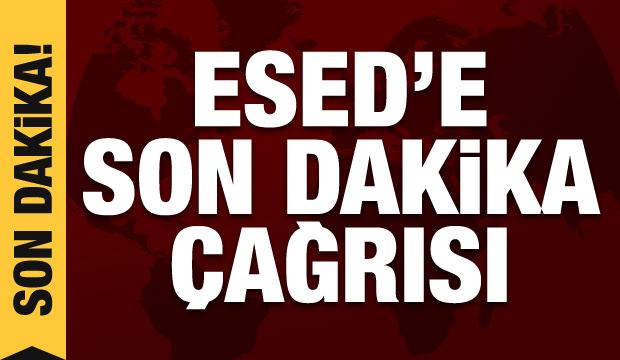 Esed'e son dakika çağrısı