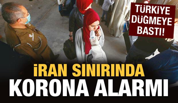 İran sınırında korona alarmı