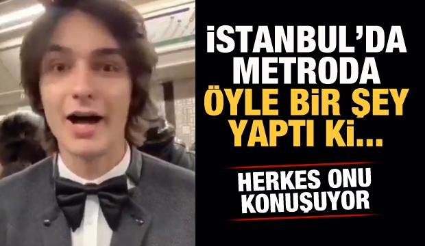 İstanbul'da metroda öyle bir şey yaptı ki...