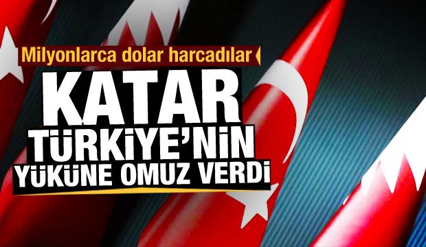 Milyonlarca dolar harcadılar! Katar Türkiye'nin yüküne omuz verdi