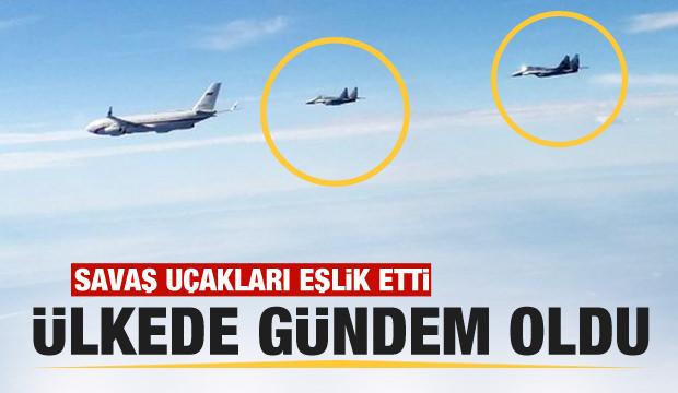 Rusya Savunma Bakanı Şoygu'nun uçağına savaş jetleri eşlik etti