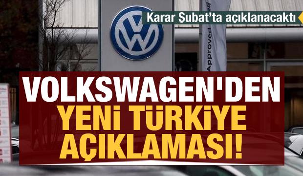 Son dakika haberi... Karar Şubat'ta açıklanacaktı! Volkswagen'den yeni Türkiye açıklaması!