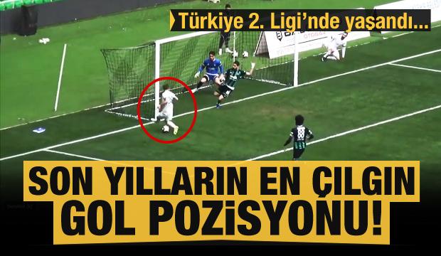 Son yılların en çılgın gol pozisyonu