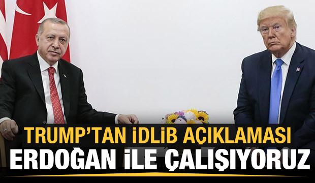 Trump'tan İdlib açıklaması: Erdoğan ile birlikte hareket ediyoruz