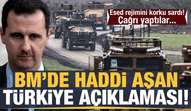 Esed rejimini korku sardı! BM'de haddi aşan Türkiye açıklaması