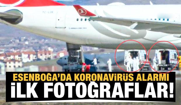 Esenboğa Havalimanı'nda koronavirüs alarmı! İlk fotoğraflar...