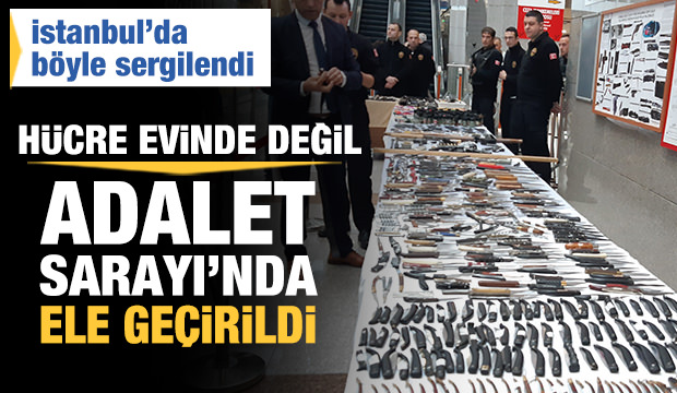 İstanbul Adalet Sarayı'nda ele geçirildi! Adeta cephanelik gibi