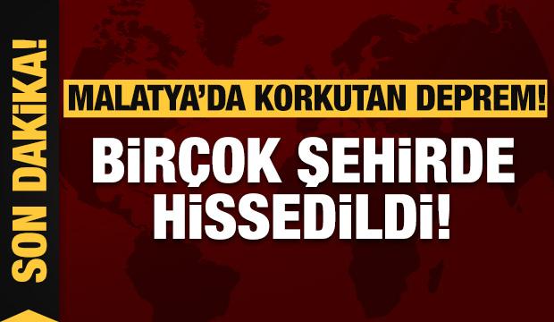 Malatya'da korkutan deprem! Diyarbakır'da hissedildi