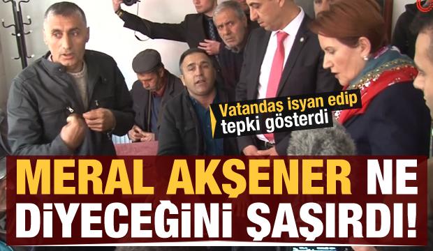 Meral Akşener ne diyeceğini şaşırdı! Vatandaş isyan edip tepki gösterdi