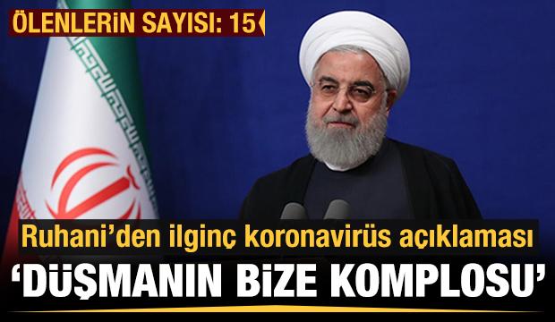 Ruhani'den koronavirüs açıklaması: Düşmanın komplosu