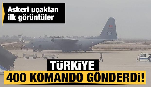 Sınırda sıcak saatler! 400 komando askeri uçakla geldi