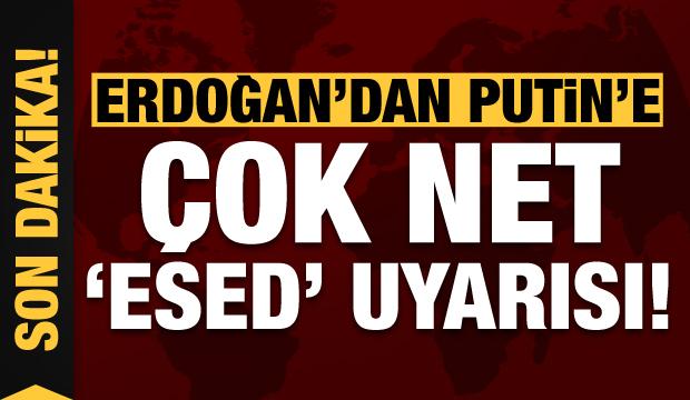 Son dakika haberi: Erdoğan'dan Putin'e 'Esed' uyarısı: Çekilin, bizi baş başa bırakın!