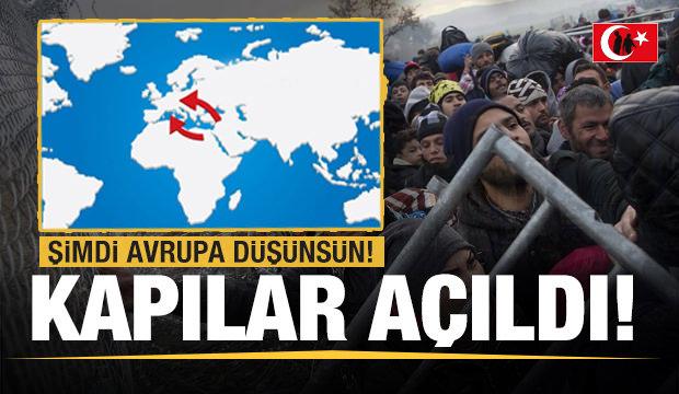Son dakika: Şimdi Avrupa düşünsün! Kapılar açıldı sığınmacılar akın akın gidiyor
