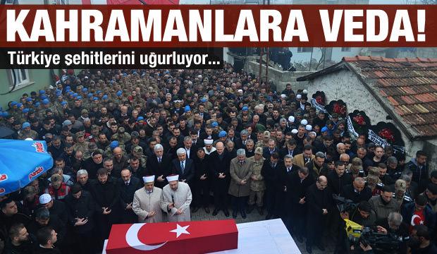 Türkiye şehitlerine veda ediyor