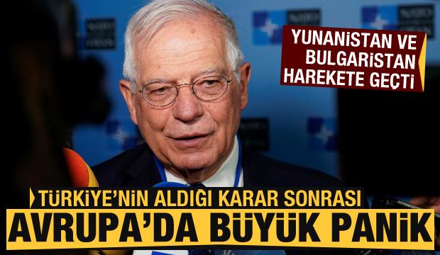 Türkiye'nin kararı sonrası Avrupa'da büyük panik! Yunanistan ve Bulgaristan harekete geçti