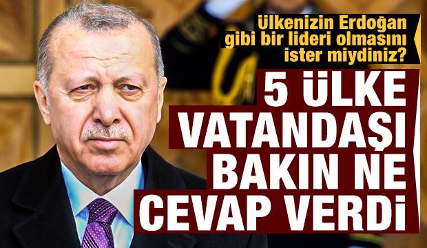 Ülkelerdeki Recep Tayyip Erdoğan algısı nasıl? İşte sonuçlar...
