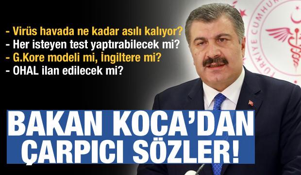 Sıhhat Bakanı Koca'dan 'OHAL' sorusuna çarpıcı cevap! 1