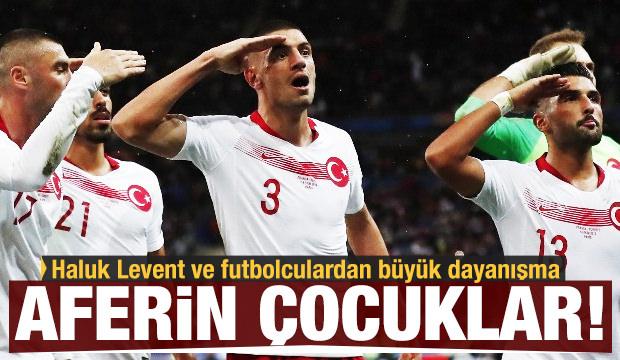 Haluk Levent ve futbolculardan büyük dayanışma