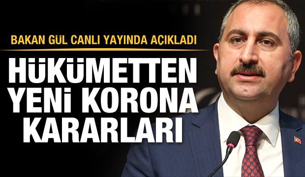 Bakan Gül açıkladı: Yargıda yeni Koronavirüs önlemleri