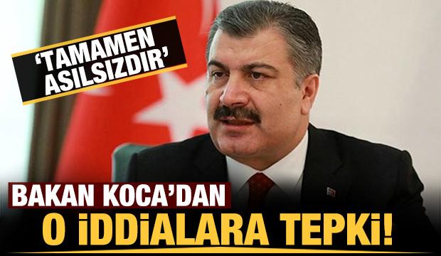 Fahrettin Koca'dan son dakika paylaşımı: Koca iddiaları yalanladı