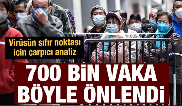 Sokağa çıkma yasağı virüsün sıfır noktasında 700 bin vakayı önledi