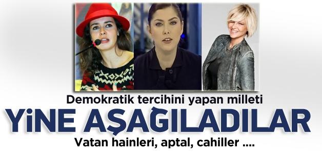 'AK Parti' dedikleri için yine aşağıladılar!