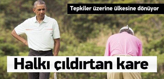 Çıldırtan kare! Halk suda, Başbakan golfte
