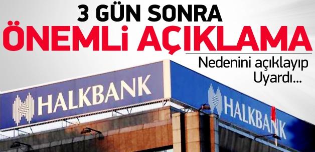 Halk Bankası'ndan operasyon açıklaması
