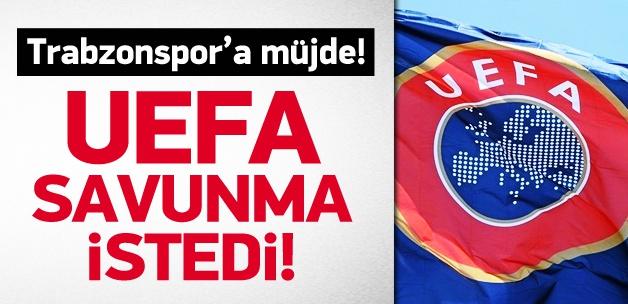 Trabzonspor'a müjde! UEFA savunma istedi!